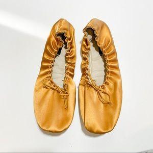 Zara Foldable Ballet Flats Gold Size 38